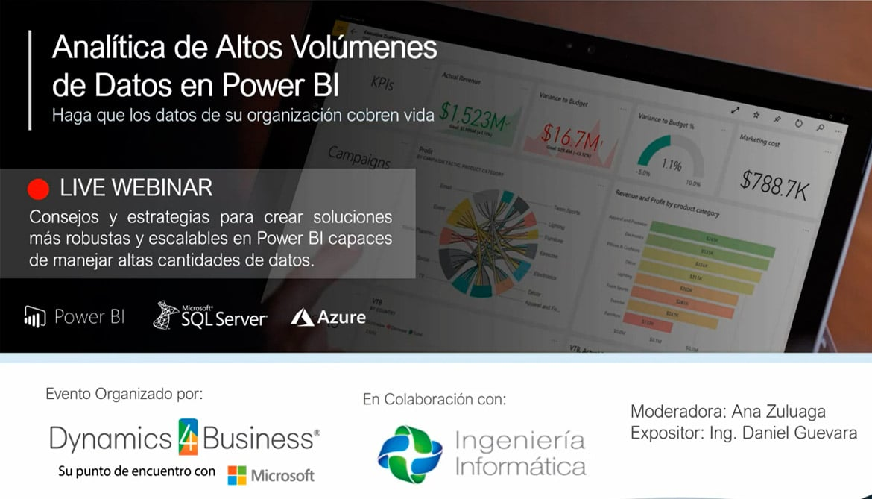 Analítica de altos volúmenes de datos con Power BI